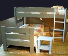 Le lit mezzanine mi-hauteur enfant pas cher en bois massif issu de forêts gérées durablement, c'est le 127 de Mathy by Bols
