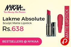 Nykaa offers #Diwali #Beauty #Bonanza brings Bestsellers product #Lakme Absolute Sculpt Matte #Lipstick just at Rs.638. Get a complimentary Nykaa Pouch on purchase of products worth Rs.3500 & above (Free Gift will be added to your cart automatically), Win the Jackpot! 1 lucky winner will win an all expense paid trip to Singapore and Malaysia!, Win Lakme Salon vouchers worth Rs. 699 plus a Babyliss ..  http://www.paisebachaoindia.com/lakme-absolute-sculpt-matte-lipstick-just-at-rs-638-nykaa/