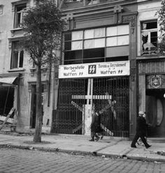 Recruiting office of the Waffen SS in Calais France - 12 November 1944.