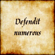 Defendit numerus - There is safety in numbers.  #latin #phrase #quote #quotes - Follow us at facebook.com/LatinQuotesPhrases