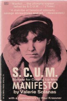 S.c.u.m. Manifesto , 978-1933540061, Valerie Solanas, Welcome Books