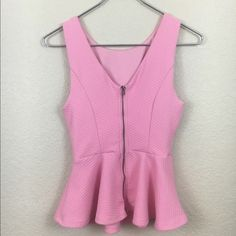 Forever 21 Tops - Forever 21 Pink Peplum Top