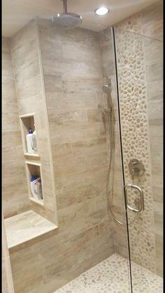 28 Inspirational Walk in Shower Tile Ideas for a Joyful Showering - Dusche