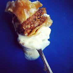 Glad Annie's Old World baklava, Ugandan Vanilla Bean, and whooped Snowville Cream.