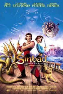 Sinbad: Legend of the Seven Seas DreamWorks Voices: Brad Pitt, Catherine Zeta-Jones. Childhood Movies, Kid Movies, Cartoon Movies, Great Movies, Disney Movies, Movie Tv, Pirate Movies, Dreamworks Movies, Book Covers