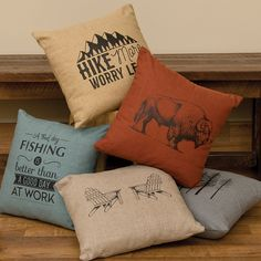 Rustic Pillows, Linen Pillows, Throw Pillows, Western Theme, Western Decor, Western Bedding, Wood River, Leather Pillow, Mountain Living