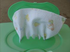 Cloth wipes.  How to make them and how to fold them so they fit in a disposable wipes container.