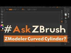 Zbrush ZModeler - Create a curved cylinder