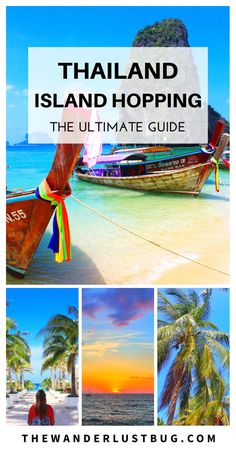 A complete guide to Thailand Island Hopping, helping you to decide which gorgeous island to head to next. Showing you what each island is best for, how to get there and what do (whether it's chic beach bars, fun & unique activities or relaxing on the most beautiful thai beaches). Featuring Koh Phi Phi, Koh Lanta, Koh Phangan, Koh Samui, Koh Tao, Koh Yao Noi, Koh Yao Yai, Koh Racha, Krabi, Ao Nang & Phuket.
