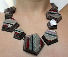 jewelry crafted from reused books