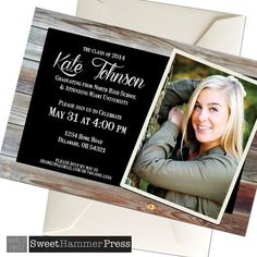 2014 Guys Graduation Invitation College Senior by alittletreasure
