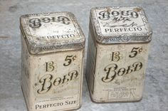 Shabby Vintage Tins (such pretty things) Tags: old white vintage tin antique cottage cream tins shabbychic