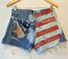 Upcycled High Waisted Shorts Levis Cutoffs / by rockstreetvintage