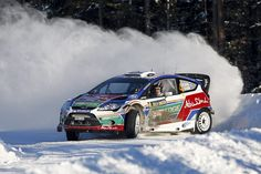 Snow ford-fiesta-rs-world-rally-car-wins-sweden