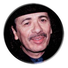ONLY ONE Carlos Santana 2-1/4 Inch Button
