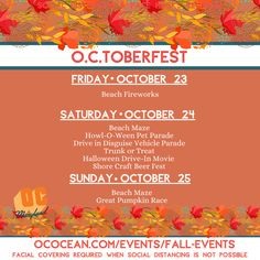 "There's a great line-up for O.C.toberfest in Ocean City, Maryland this year, including two new additions which are Beach Fireworks and the Halloween Drive-In Movie down at the Inlet.... ""Amok, amok, amok, amok, amok."" -Sarah Sanderson 👻🎃🕸 ~ Guess what movie will be showing (comment below)! 👇🏼 For more information, visit: ococean.com/events/fall-events 🔆 #visitworcester #ocmd #oceancitymd beachandbeyond.org // 📸: @oceancitymaryland Craft Beer Fest, American Festivals, Pet Parade, Ocean City Md, Local Brewery, Folk Festival, Trunk Or Treat, Restaurant Week, How To Raise Money"
