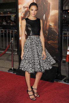 Gal Gadot style - best most fashionable looks & outfits (Glamour.com UK) Glamour Magazine UK waysify