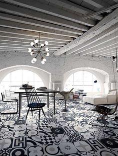 Black & White Tiles. Designböden in Gummersbach - Fliesenhaus Oberberg Rainer Frede & Elke Frede