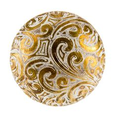Gold Etched Swirl Knob option 2 Charlotte's Kitchen