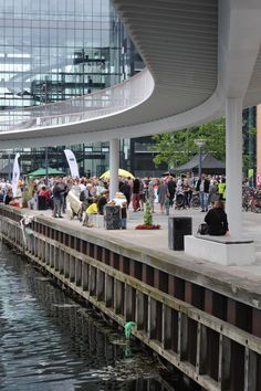 Under the elevated Bicycle Snake, Copenhagen by Dissing+Weitling Architects. Click image for full profile and visit the slowottawa.ca boards:  http://www.pinterest.com/slowottawa/