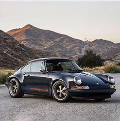 "911 Porsche ""Restored, reimagined, and reborn"" by Singer Vehicle Design. To me the most desirable car Indianapolis model Porsche Panamera, Porsche Autos, Porsche Cars, Porsche Classic, Classic Mercedes, Classic Cars, Singer Porsche, Singer 911, Carrera"