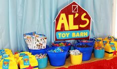 Lizzie D's Birthday / Toy Story - Photo Gallery at Catch My Party Toy Story Game, Toy Story Party, Toy Story Birthday, Birthday Party Games, 4th Birthday Parties, 2nd Birthday, Birthday Ideas, Festa Toy Story, Toy Barn