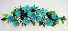 TURQUOISE BLUE SWAG ~ Teal Mermaid Silk Wedding Flowers Arch Decor Centerpieces