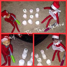 Elf on a Shelf with The 4-Crow's 2013- Week 2 #elfontheshelf