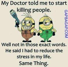 Funny Minion Joke About Doctor vs. Stress