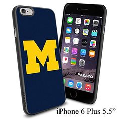 """NCAA M MICHIGAN , Cool iPhone 6 Plus (6+ , 5.5"""") Smartphone Case Cover Collector iphone TPU Rubber Case Black Phoneaholic http://www.amazon.com/dp/B00VVN9290/ref=cm_sw_r_pi_dp_Wj0nvb04MNZJW"""