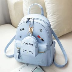 MLITDIS Lovely Mini Women School Bags For Teenagers Korean Style Rugzak Vrouwen Leather Backpack Women Rucksack Mochilas Mujer Cute Mini Backpacks, Stylish Backpacks, Girl Backpacks, Kawaii Bags, Back Bag, Accesorios Casual, Cute Purses, Cheap Purses, Cheap Bags