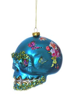 Sublime Skull Ornament in Blue at PLASTICLAND