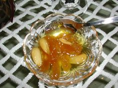 koufeto, a spoon sweet from Milos Island made with almonds and Pumpkin