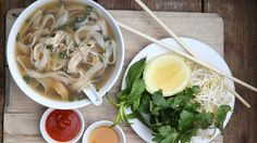 I love eating pho and I came across this recipe. I've never made pho before, but I'm excited to! This page also has a rice paper roll recipe.
