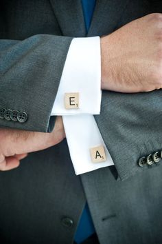 {Scrabble Cuff Links} If only my bf would wear clothing like this regularly...
