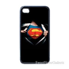Superman changing clothes  iPhone 4 Back Case Black by StevenIdea, $16.99