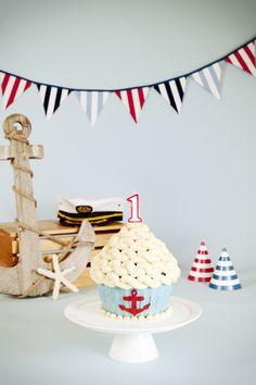 nautical smash cake - Google Search