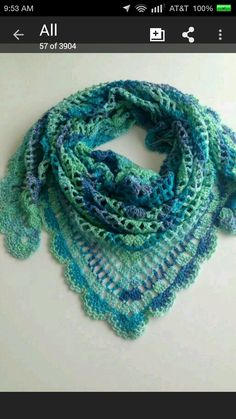 Virus shawl in a favourite colour.