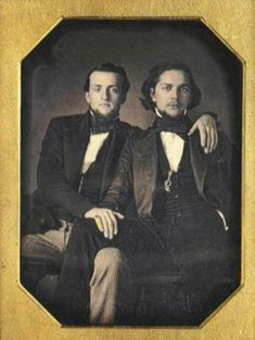 Creole male Couple, Dagguerotype from the 1840s, New Orleans, USA.
