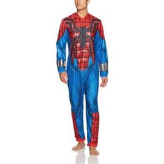 Zip-front closure for a snug fit. Easy Costumes, Super Hero Costumes, Career Costumes, Mens Onesie, Movie Character Costumes, Union Suit, Trendy Halloween, Cool Suits, Ripped Jeans