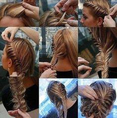 Twist and fish tail braid