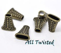 10 Antiqued Bronze Trumpet Spacer Beads -CA. Starting at $5 on Tophatter.com!