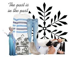 """""""Elsa-Round 1 Introductions"""" by thespian-at-large ❤ liked on Polyvore featuring Barbour, AG Adriano Goldschmied, RoomMates Decor and Jeffrey Campbell"""