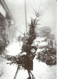 vintage black and white christmas photos
