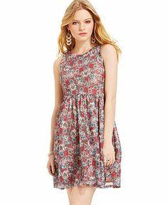 American Rag Floral-Print Lace Dress - Dresses - Women - Macy's