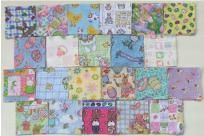 """88 Piece Fabric Charm SQUARES  4"""" x 4"""" Fabric Quilt SEWING PROJECT 3 FREE PATTERNS"""