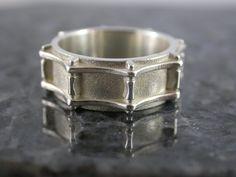 Drum Ring by MetalMonkeyJewellery on Etsy, $195.00
