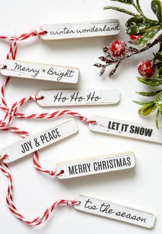 Free Printable to Make Easy Winter Tags : FREE PRINTABLE TAGS! An easy tutorial for creating beautiful wood tags to add the perfect holiday touch to packages and decor. Dollar Tree Christmas, Dollar Tree Crafts, Christmas Wood, All Things Christmas, Christmas Time, Christmas Ideas, Xmas, Scandinavian Christmas, Christmas Tags Printable