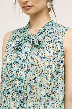Forget-Me-Not Silk Blouse - anthropologie.com