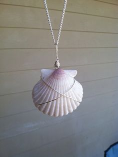 Wire Wrapped Shell Necklace by saltyjewels on Etsy, $22.00